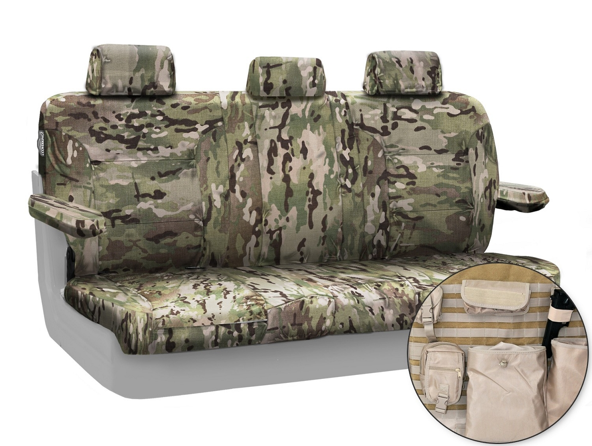 2009-2010 F150 CoverKing Ballistic Cordura Multi-Cam Rear Seat Covers (Classic)