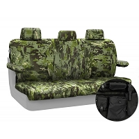 2015-2017 F150 CoverKing Ballistic A-TACS Foliage/Green Camo Rear Seat Covers