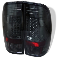 1999-2007 F250 & F350 Spyder LED Tail Lights (Smoke)