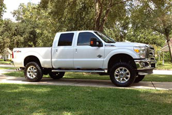 "Ford F150 3 Inch Lift 35 Inch Tires >> 2011-2016 F250 & F350 Super Duty 4WD BDS 4"" Suspension Lift Kit 588H"
