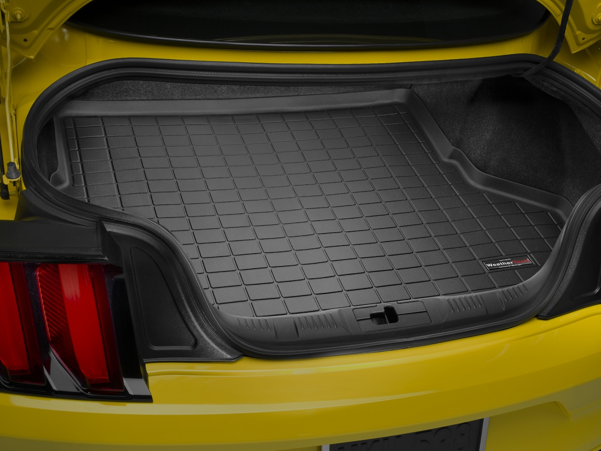 2015-2020 Mustang WeatherTech DigitalFit Cargo/Trunk Floor Mat (Black)