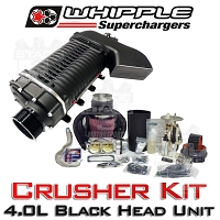 2003-2004 Mustang Cobra Whipple 4.0L Crusher Supercharger Kit (Black)
