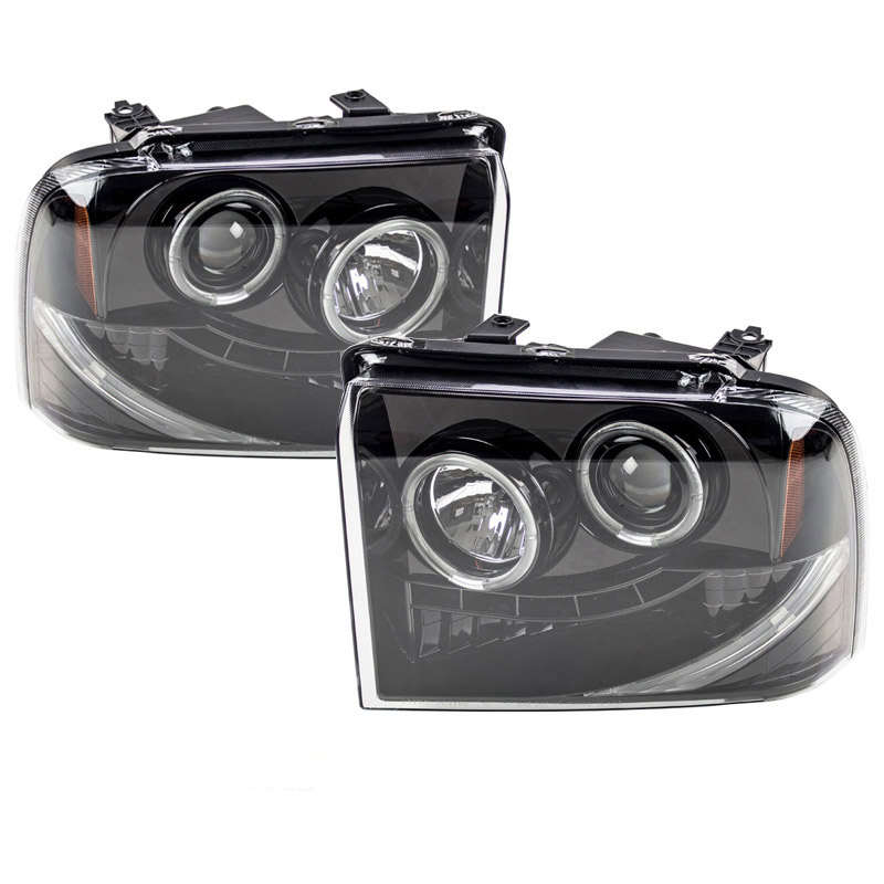 2005-2007 F250 & F350 Recon Smoked Projector Headlights