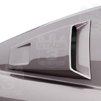 05-09 Mustang V6 Quarter Window Louvers & Scoops