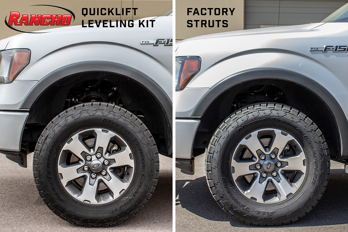 2009-2013 F150 4WD Rancho quickLIFT Loaded Leveling Kit - Passenger Side