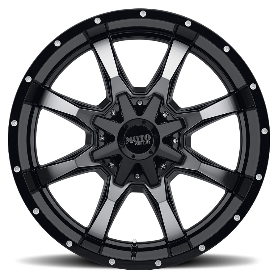 2004 2018 F150 Moto Metal Mo970 18x10 Gloss Black Machined Wheel