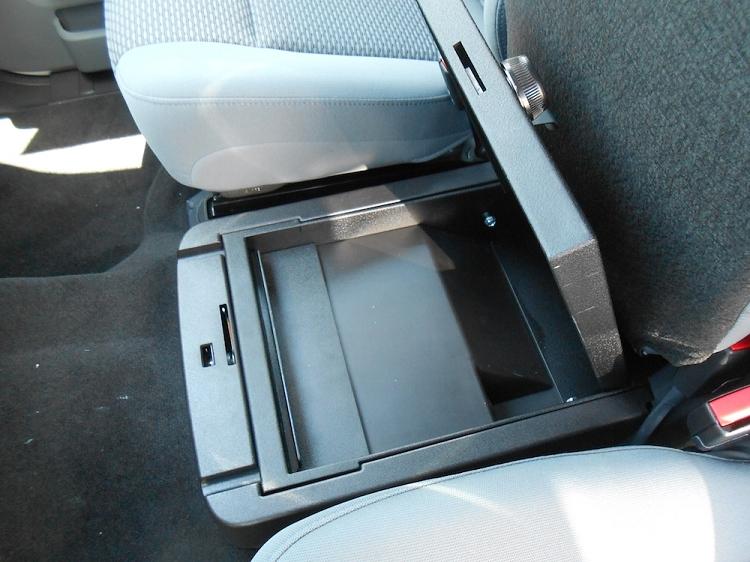 F150 Under Seat Storage >> 2011-2016 F250 & F350 Console Vault Under Front Middle Seat Gun Safe 1056-2-F250