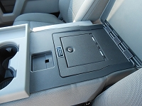 15-20 F150 Console Vault Fold-Down Arm Rest Gun Safe