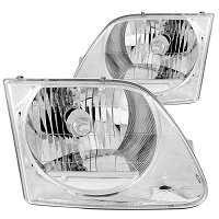 1997-2003 F150 ANZO G2 Crystal Projector Headlights (Clear)