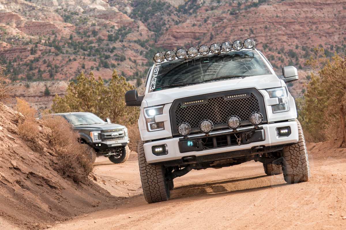 2015 2017 F150 Putco Boss Upper Grille With 10 Quot Led Light