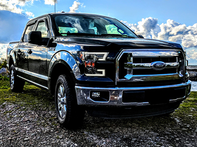 2015 2017 F150 Spyder Led Light Bar Projector Headlights