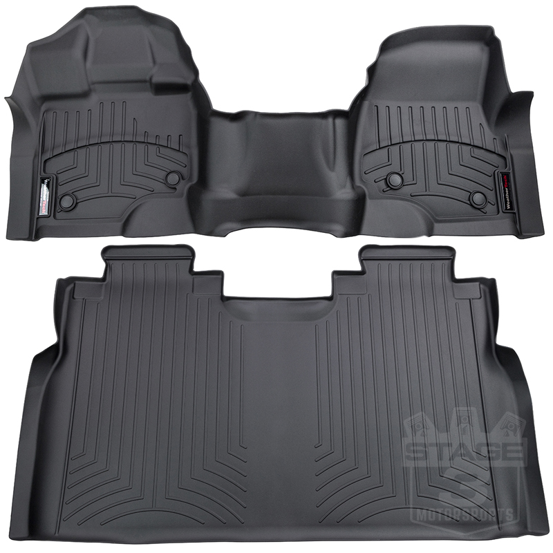 15-20 F150 SuperCrew Front Bench WeatherTech Black Digital Fit Liners