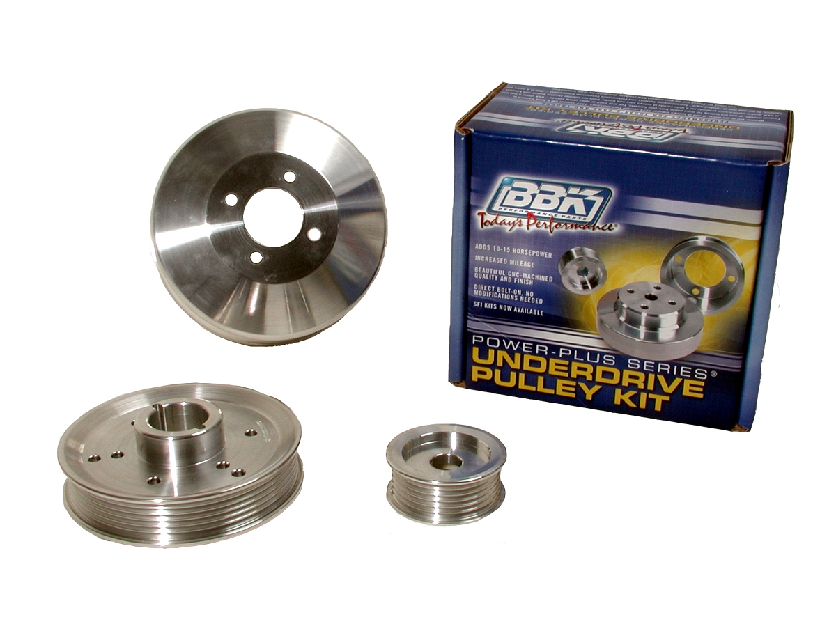 1996-2000 Mustang GT / Cobra 4.6L BBK Underdrive Pulley Kit (Polished)