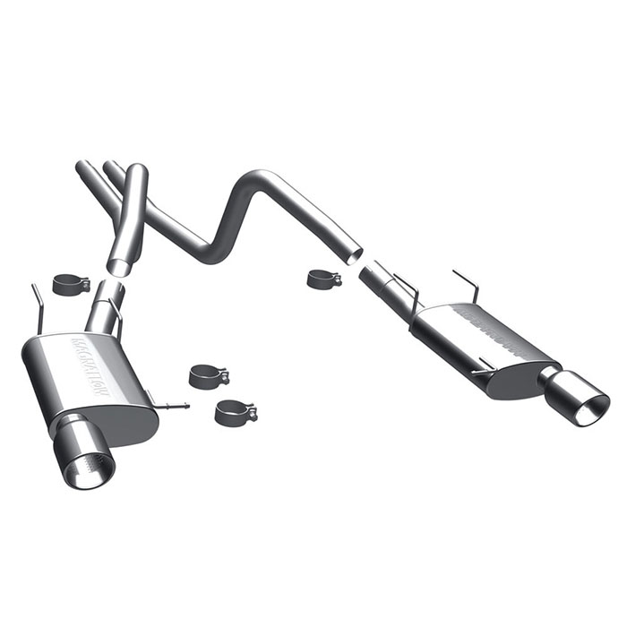 2011-2012 Mustang V6 3.7L MagnaFlow Cat-back Exhaust (Street)