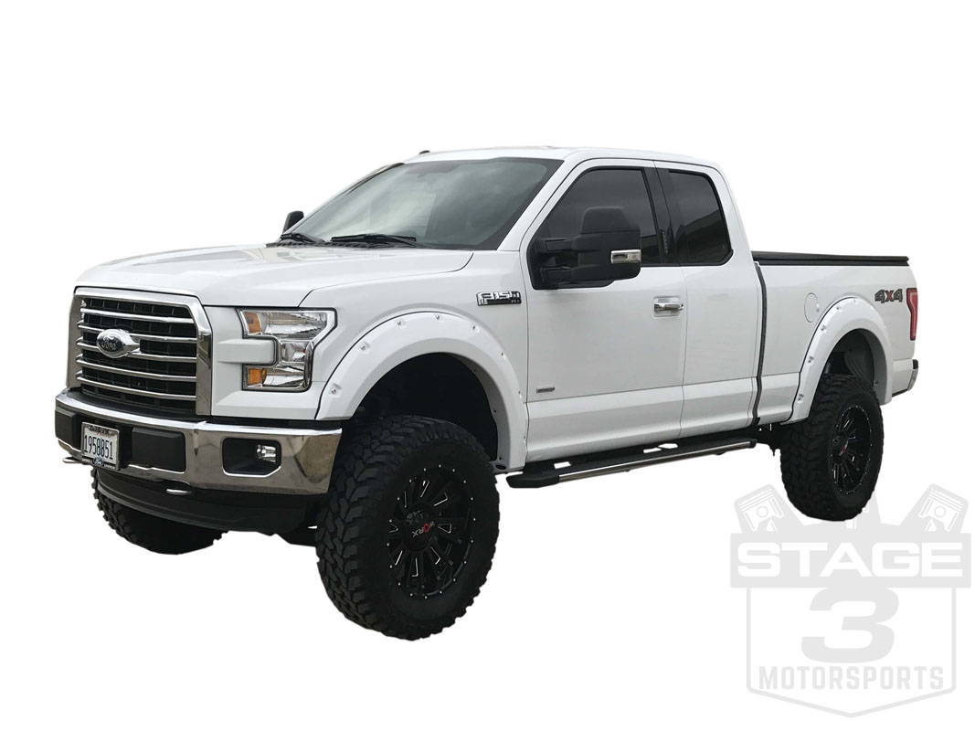2015 2017 f150 bushwacker pocket style fender flares pre. Black Bedroom Furniture Sets. Home Design Ideas