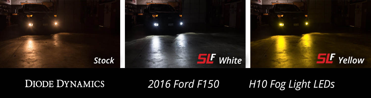 For Ford F-150 1999-2014 Lighting Fog Light Bulb LED H10 White Pair-us