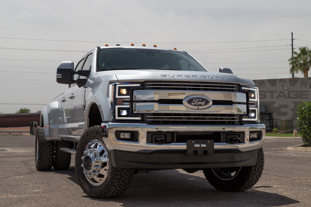 F250 2017 Black >> 2017 2019 F250 F350 Anzo Led Switchback Outline Projector