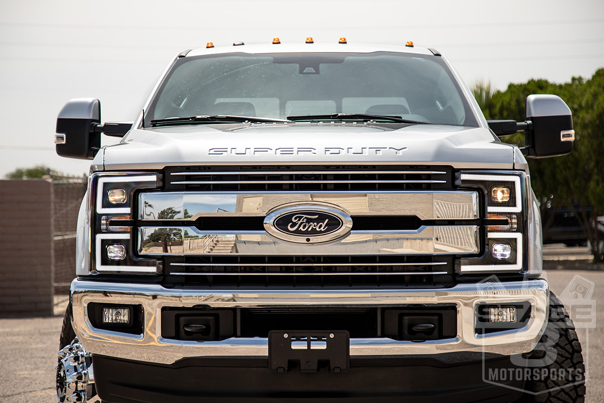 2017 2019 F250 F350 Anzo Led Switchback Outline Projector 2004 Ford F 250 Super Duty Light Bulbs Tap To Expand