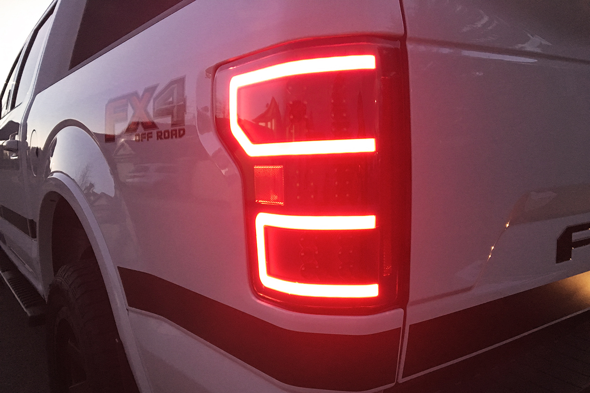 2018 2020 F150 Anzo Drl Outline Led Taillights Black