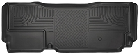 2011-2016 F250 & F350 Super Cab Husky WeatherBeater Rear Floor Mat (Black)
