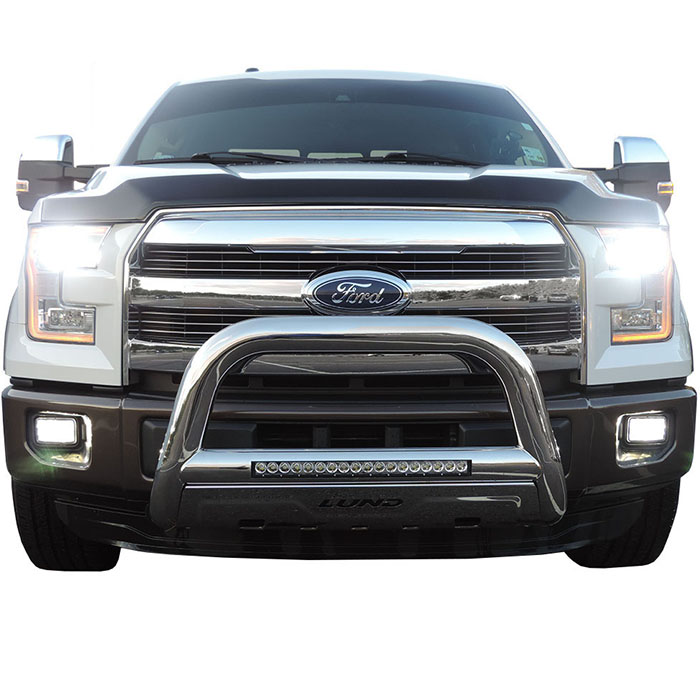 2004 2017 f150 lund bull bar w 20 led light bar stainless steel hover to zoom aloadofball Image collections