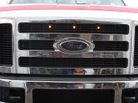 2008-2010 F250 & F350 Custom Auto Works Raptor Style LED Amber Grille Light Kit