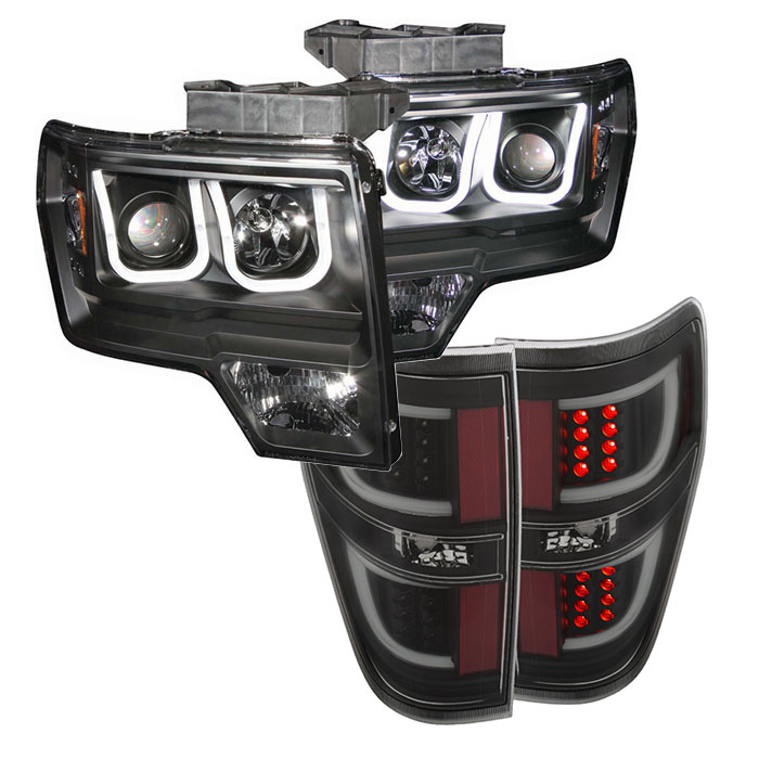 2009 2014 f150 anzo u bar headlight and g2 led taillight package s3m hover to zoom aloadofball Image collections