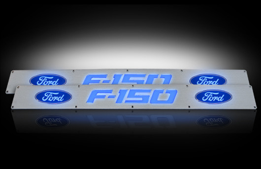 Ford F150 Shelby >> 2009-2014 F150 Logo Illuminated Door Sill Plates - Front Only 264321FD
