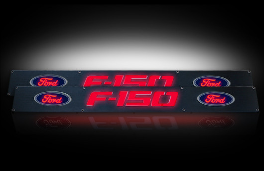 2016 Ford F150 Accessories >> 2009-2014 F150 Logo Illuminated Door Sill Plates - Front Only 264321FD