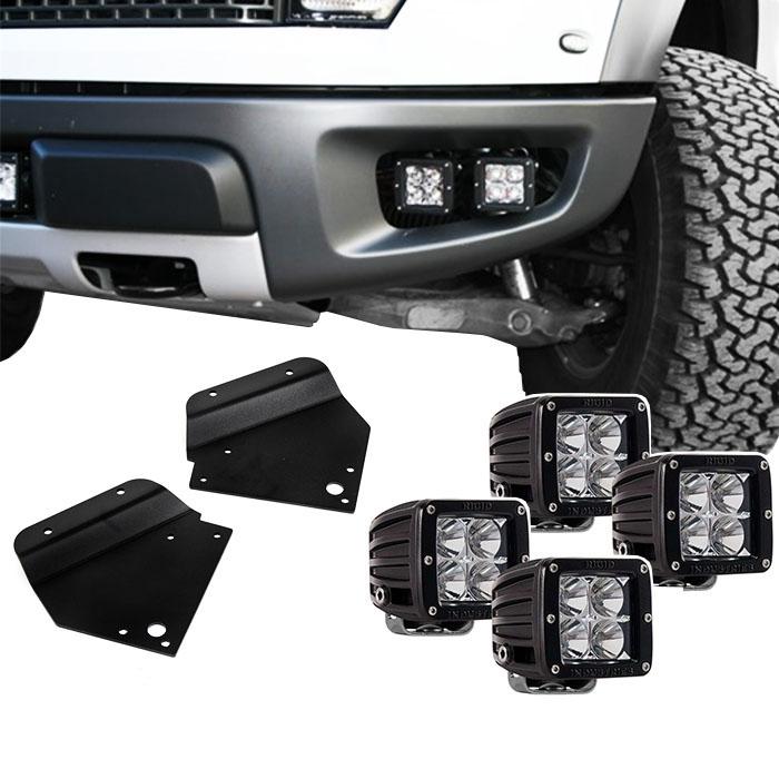 1Pair Fog Light Bracket Use With Ford F150 SVT Raptor 10-14 3/'/' for LED Light FD