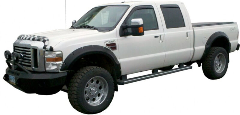 2008-2010 F250 & F350 Iron Cross Winch-Ready Replacement Front Bumper -  Push Bar Model