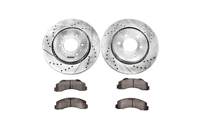 Fits 2005-2009 Subaru Outback Legacy Rear Drill Slot Brake Rotors+Ceramic Pads