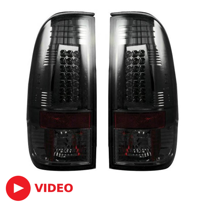 2008-2016 F250 & F350 Recon Smoked LED Tail Lights