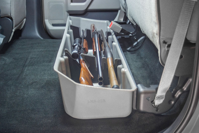 2015-2019 F150 Super Crew DU-HA Underseat Storage Unit/Gun ...