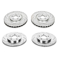2011-2014 Mustang V6 Power Stop Z26 Street Warrior Brake Kit