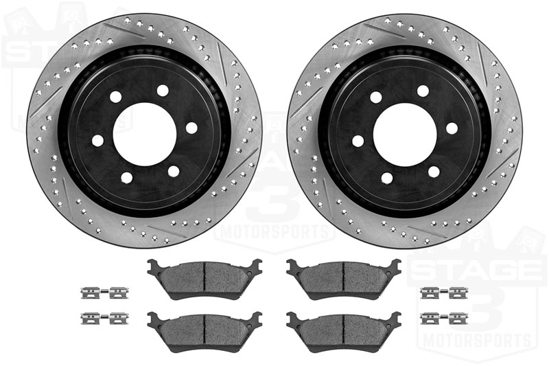 Rear Drilled /& Slotted StopTech 938.58507 Street Axle Pack
