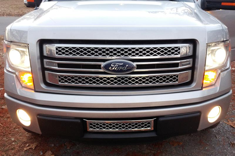 2013-2014 F150 Boost Bars Limited Lower Plate Grille 13LIMITED