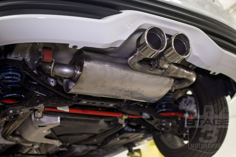 Focus St Exhaust   Ford Focus St Ecoboost Borla Touring Cat Back Exhaust