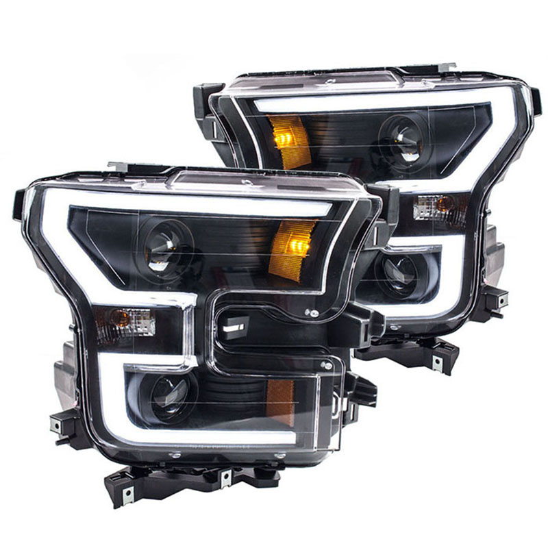 2015-2017 F150 ANZO LED Outline Projector Headlights