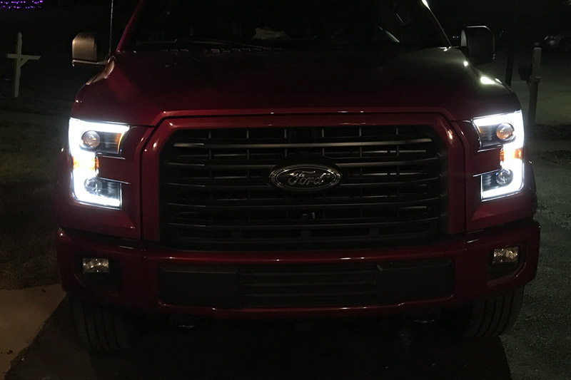 2015 2017 F150 Anzo Led Switchback Outline Projector