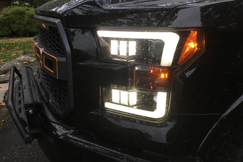 2015 2017 f150 recon led outline smoked projector headlights 264290bkc projector headlights hover to zoom sciox Images