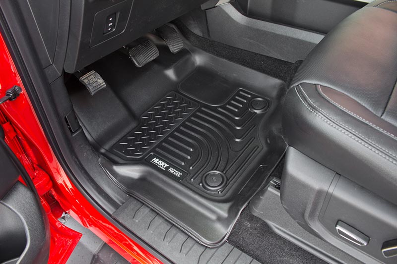 supercrew supercab husky weatherbeater front floor mats black