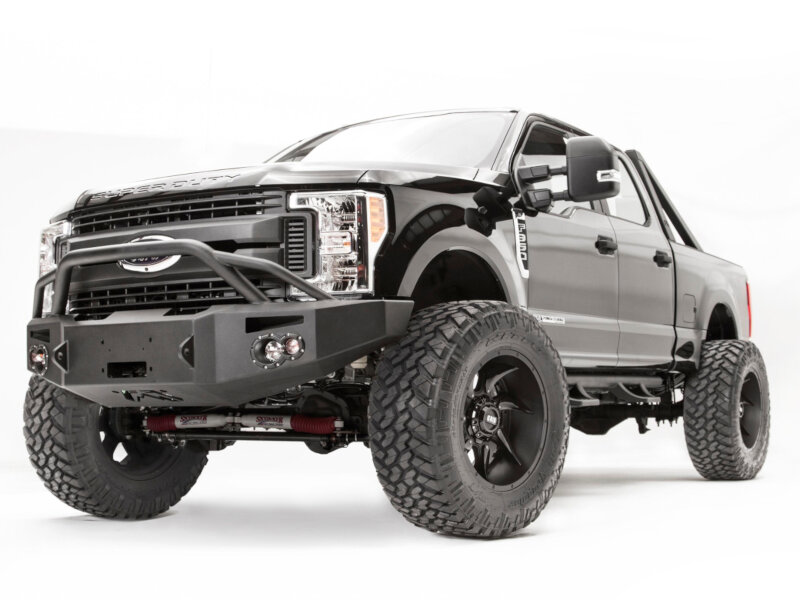 2017-2019 F250 & F350 Fab Fours Premium Winch-Ready Front Bumper with Pre-Runner Guard FS17-A4152-1