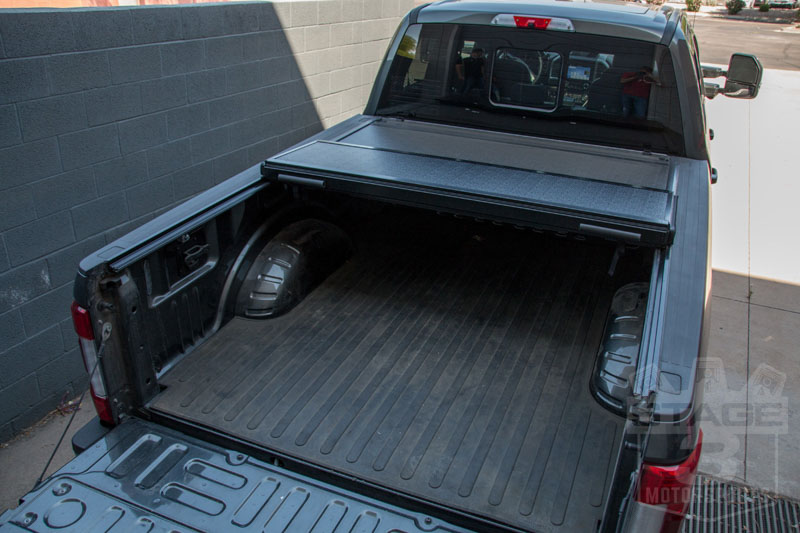 F F Bakflip G Hard Folding Tonneau Cover Installed on 2000 Ford F350