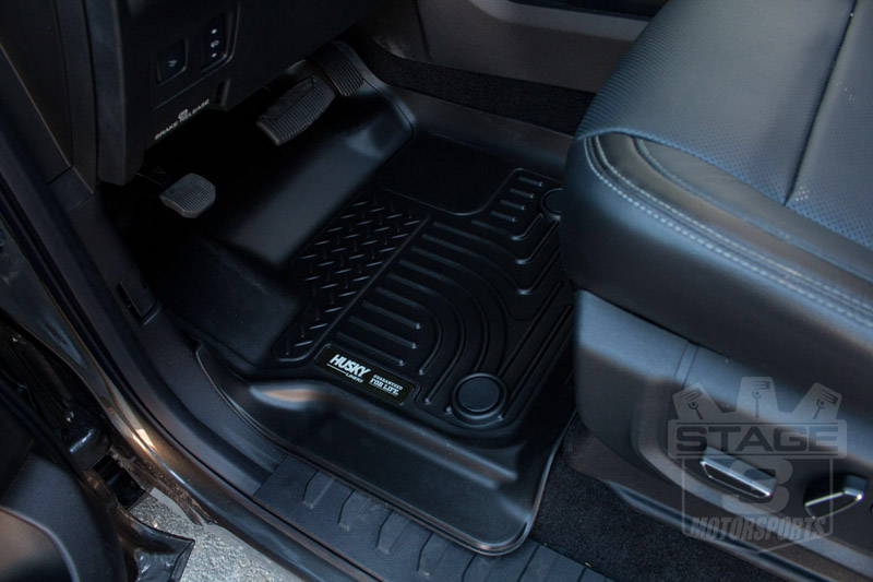 2017-2019 F250 & F350 Husky WeatherBeater Front Floor Mats For Factory Carpet Flooring HL-13301