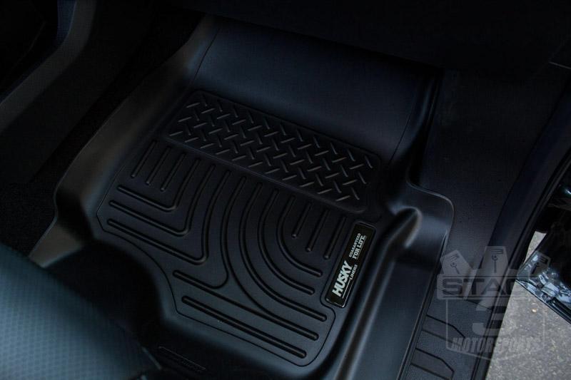 2017-2019 F250 & F350 Husky WeatherBeater Front Floor Mats For Factory Carpet Flooring HL-13301
