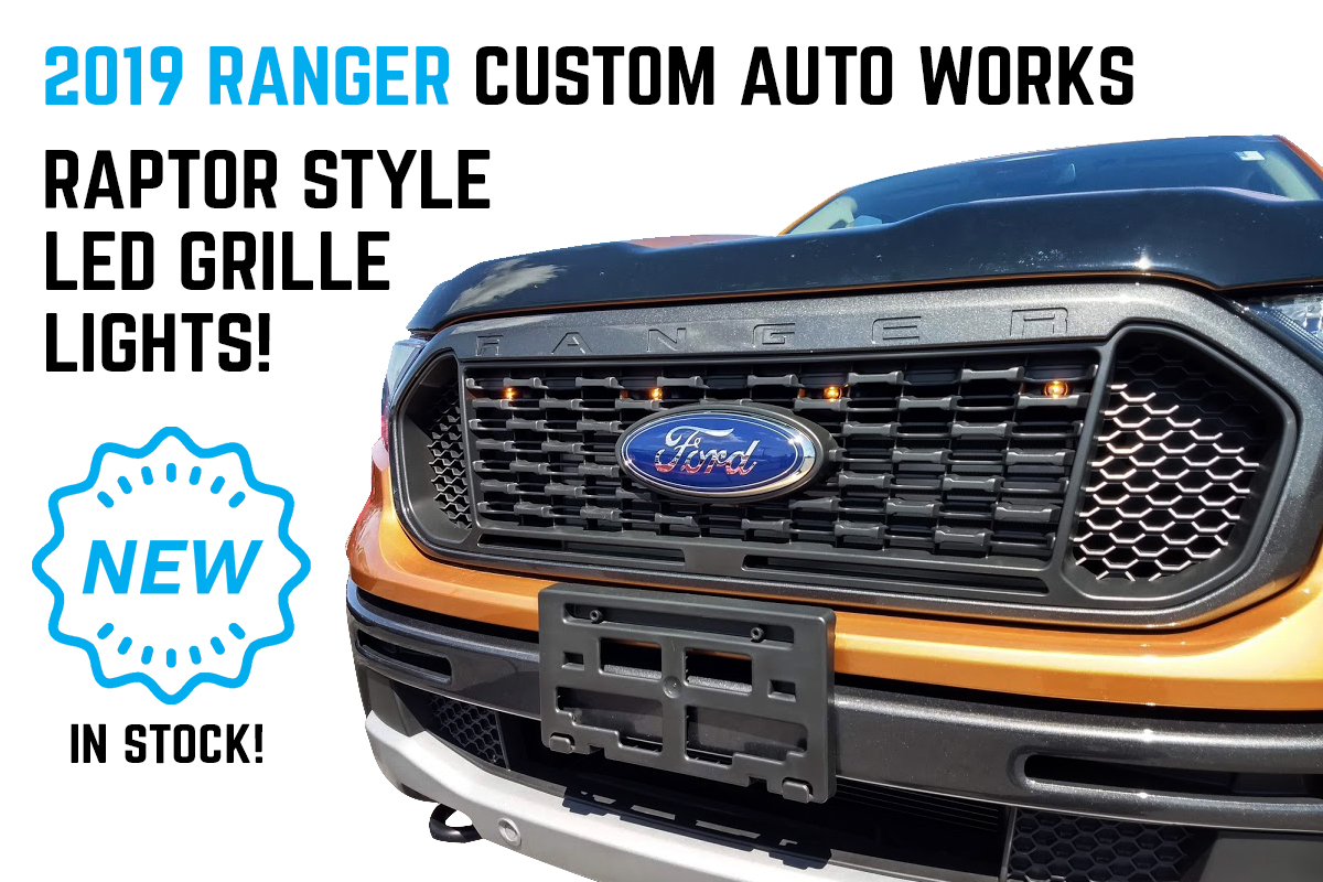 2019 Ford Ranger Custom Auto Works Raptor Style Light Kits Now Available!