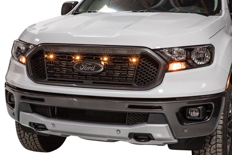 2019 Ford Ranger Xlt Xl Custom Auto Works Raptor Style 4 Led Grille Light Kit