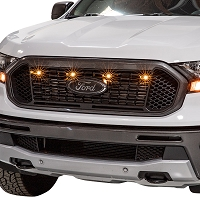 2019 Ford Ranger XLT & XL Custom Auto Works Raptor Style 4 LED Grille Light Kit