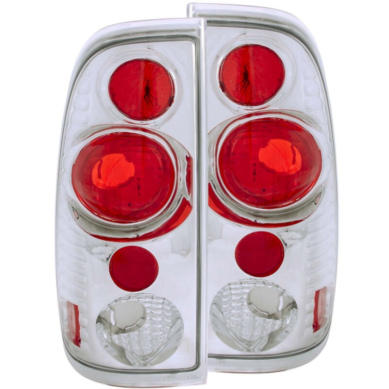 1997-2003 F150 ANZO Version 2 Taillights (Clear, Chrome)